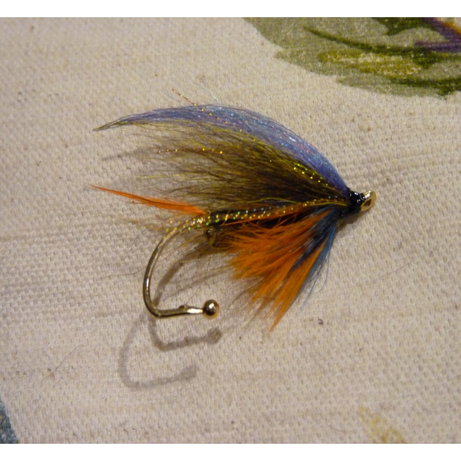 Handmade Scottish Munro Killer Salmon Fly Pin/Brooch
