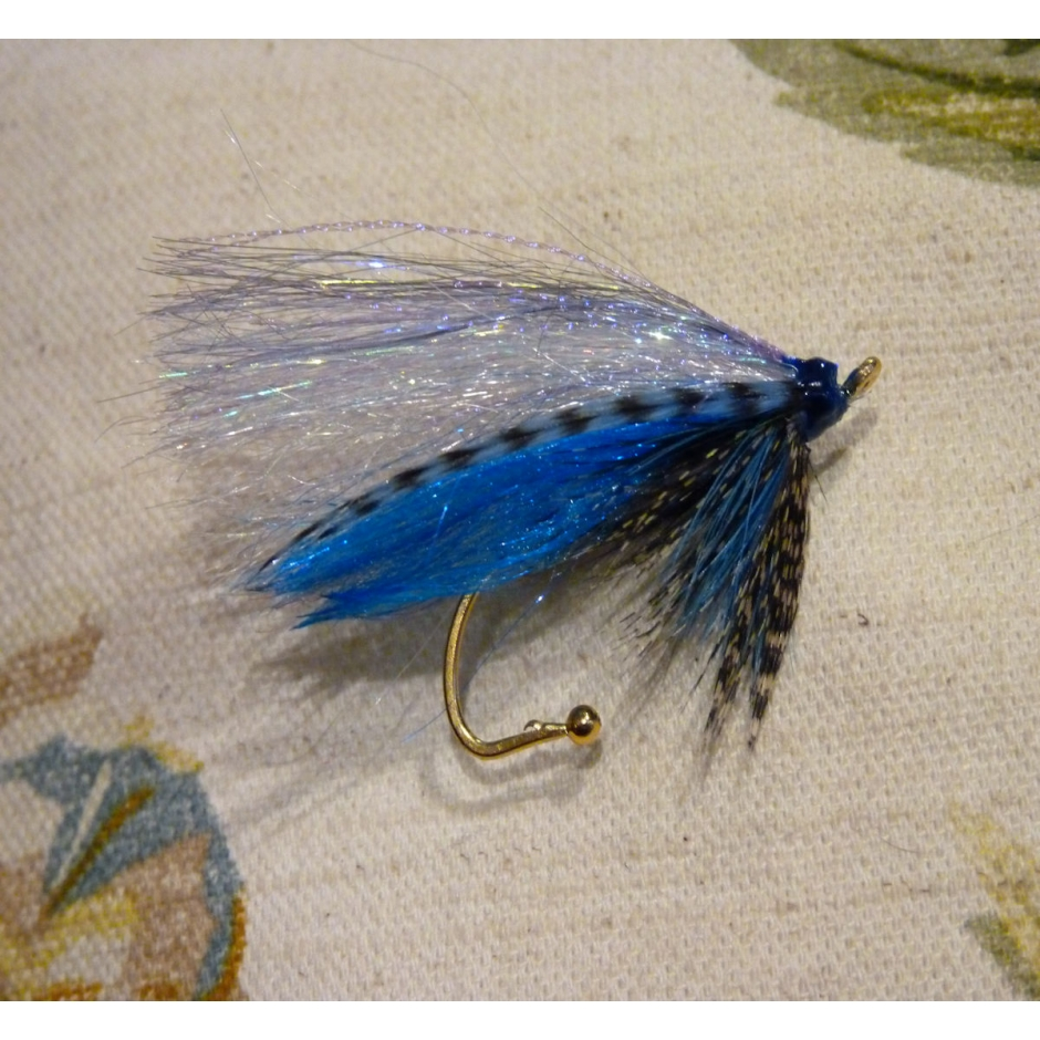 Handmade Scottish Teal Blue and Silver Salmon Fly Pin/Brooch