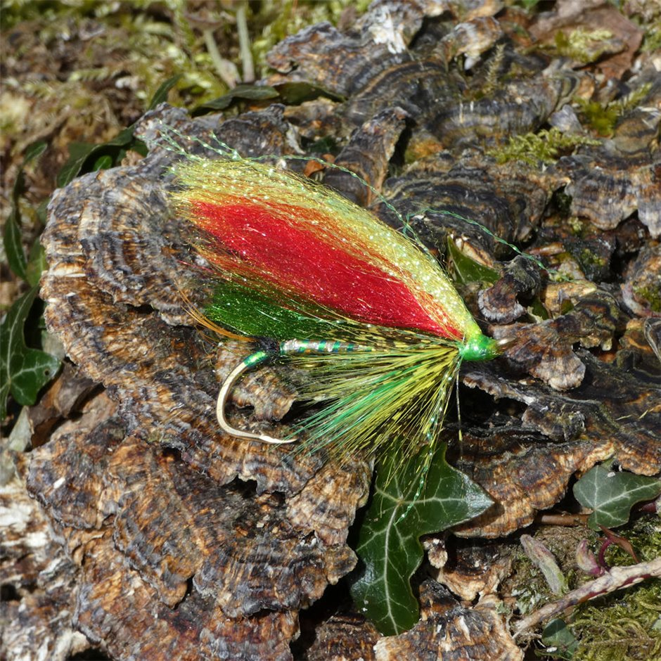 Handmade Scottish Green Highlander Variant Salmon Fly Pin/Brooch