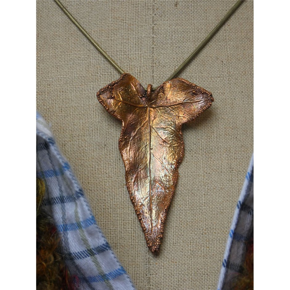 Ivy leaf pendant copper ivy leaf pendant mozeypictures Image collections