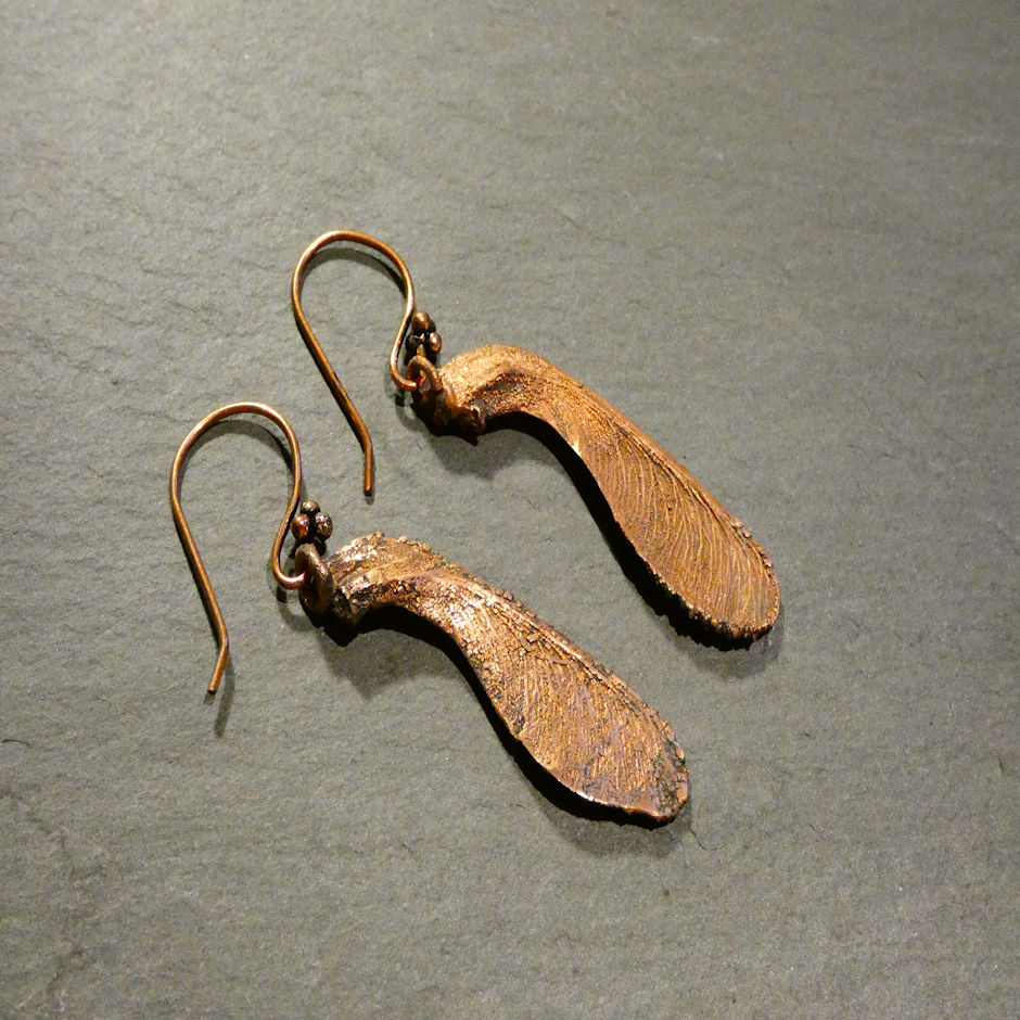 Small Sycamore Seed Earrings